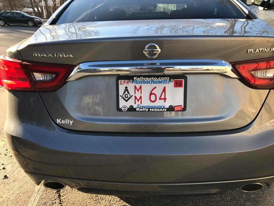 Masonic License Plates Hit The Road Massachusetts Freemasons