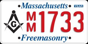 Masonic License Plate Program - Massachusetts Freemasons