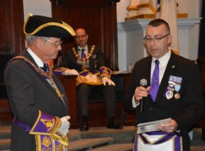 Mike Jarzabek was elected to serve as Junior Grand Warden in 2018.