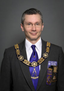Jareo, pictured here as District Deputy Grand Master in 2012.
